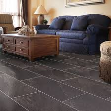B Q Bathroom Laminate Flooring Dark Grey Natural Stone Effect Waterproof Luxury Vinyl Click