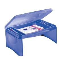 Lap Desk With Storage Compartment Miles Kimball Folding Lap Desk With Tray Walmart Com