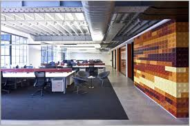 creative office space with large layout and lego wall industrial
