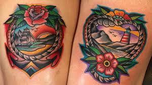 samuele briganti s sunset colored traditional sailor tattoos tattoodo