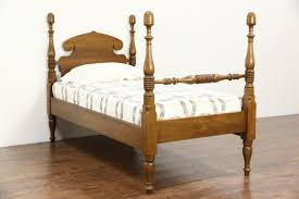 Poster Bed by Butternut 1890 U0027s Antique Twin Or Single Acorn Poster Bed Harp