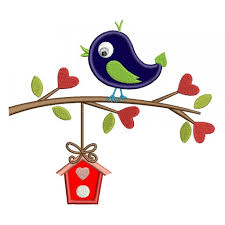 bird on a branch with a tree house applique machine embroidery digitized design pattern 700x700 jpg