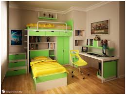 bedroom charming green yellow teens room bunk bed color theme