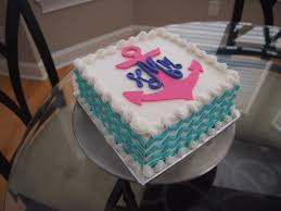 cake monograms square chevron anchor monogram cake roxi bakes
