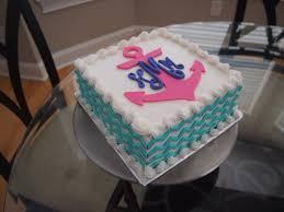 cake monograms square chevron anchor monogram cake roxi bakes