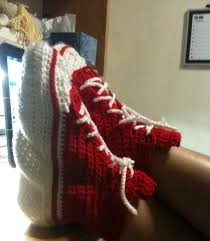pattern crochet converse slippers experiments in crochet converse slippers pattern
