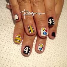 nfl steelers football nail art my nail art pinterest