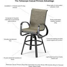 Replacement Slings For Patio Chairs Furniture Telescope Patio Furniture Replacement Slings Home