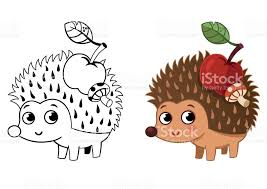 hedgehog coloring stock vector art 827991582 istock
