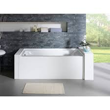 delano 59 inch x 32 inch white rectangle alcove soaking bathtub
