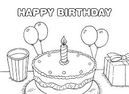 happy birthday coloring pages 01 kids coloring pinterest