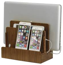 decorative charging station walnut multi device charging station and dock contemporary