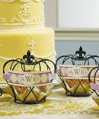 unique favors small crown unique wedding favor pack of 4 centerpieces and