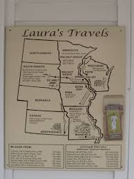 here is a map of laura ingalls wilder u0027s travels through the little