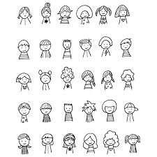 how to draw doodle faces shiny happy world kiddie cameos embroidery pattern 5 pinteres