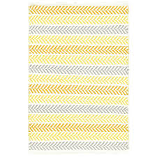 mercury row altair hand woven cotton yellow gray area rug