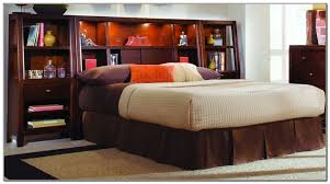 bookcases full size storage bed with bookcase headboard and king