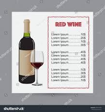 menu red wine bottle wine glass stock vector 296497688 shutterstock