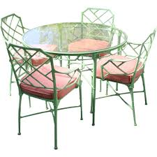 Patio Chairs Metal Metal Bamboo Patio Set Dinette For Sale At 1stdibs