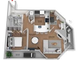 3d floor plan added for 207 1010 chilco st modern west end
