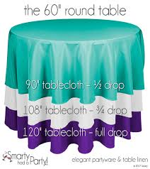 108 tablecloth on 60 table tablecloth size guide round tables smarty had a party blog