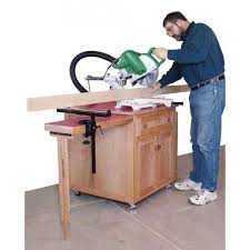 table saw station plans woodworker s journal miter saw station plan rockler woodworking