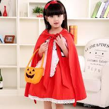 Red Coat Halloween Costume Halloween Costume Kids Dress Cosplay Red Riding Hood