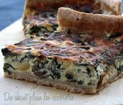 cuisiner la blette recette de tarte aux blettes chèvre raisins secs et pignons la