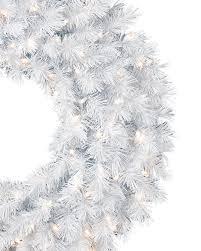 winter white garland wreath treetopia