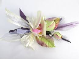 orchid wrist corsage ivory orchid boutonnierre or wrist corsage in radiant orchid
