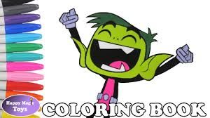 teen titans coloring book pages beast boy colors teen titans