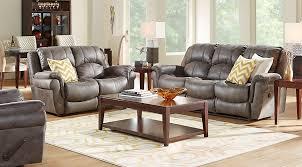 3 Pc Living Room Set Corbin Gray 3 Pc Living Room With Reclining Sofa Living Room