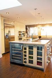 kitchen island with wine storage wine storage cook top on island without step seating
