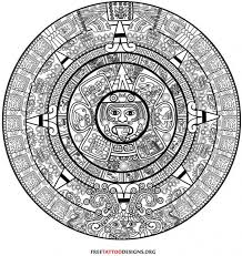 mexican aztec calendar tattoos