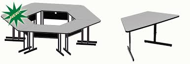 adjustable height training table correll inc econoline computer and training tables