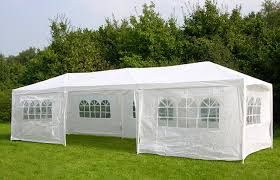 white gazebo 3m x 9m white waterproof outdoor garden gazebo tent marquee