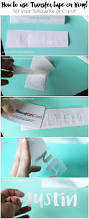 how to use transfer paper with vinyl the pinning mama
