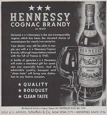 Hennessy Favors by 1943 Hennessy Cognac Original Wwii Ad The By Phorgotten