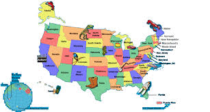 us state map with alaska student state facts