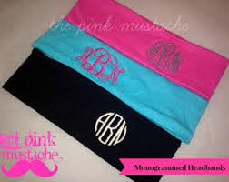 monogram headband monogrammed headband etsy