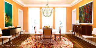 Dining Room Accents Red Couch Interiors Bright And Bold Dining
