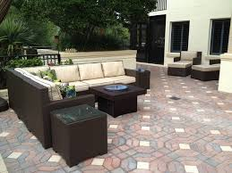 Patio Table With Built In Fire Pit - patio furniture set with gas fire pit table traditional