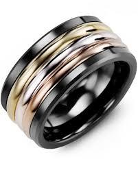 color wedding rings images Men 39 s tri color wedding band madani rings jpg