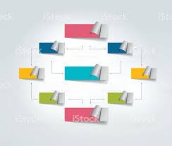 flow chart scheme infographics elements vector design stock vector flowchart infographics scheme color connected text field
