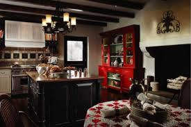 15 red country kitchen decorating ideas that are black red