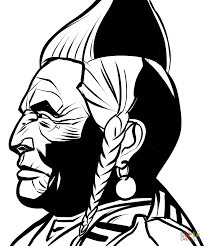 native american indian chief coloring page free printable