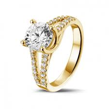 solitaire rings gold images Classics 1 50 carat solitaire ring in yellow gold baunat jpg