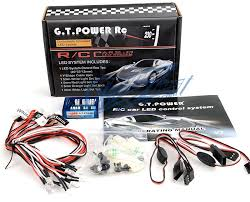 remote control car lights gt power 12 led rc car lighting kit 1 10 brake headlight gt power