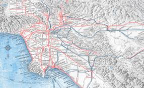 Los Angeles Crime Map by Pacific Electric Red Car In La Covered 25 Percent More Mileage
