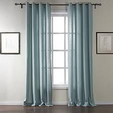 Bright Blue Curtains Leyden Grommet Top Contemporary Bright Blue Linen Curtain Drapes